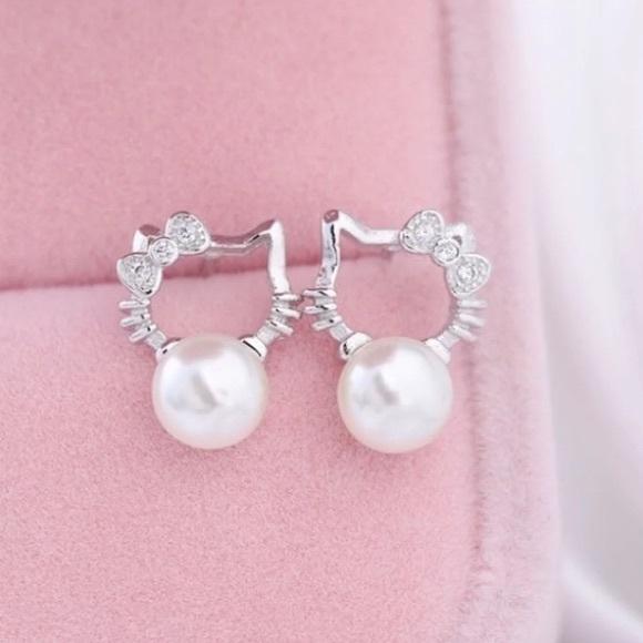 c238b7b0a Sanrio Jewelry   Hello Kitty Pearl Studs Earrings   Poshmark